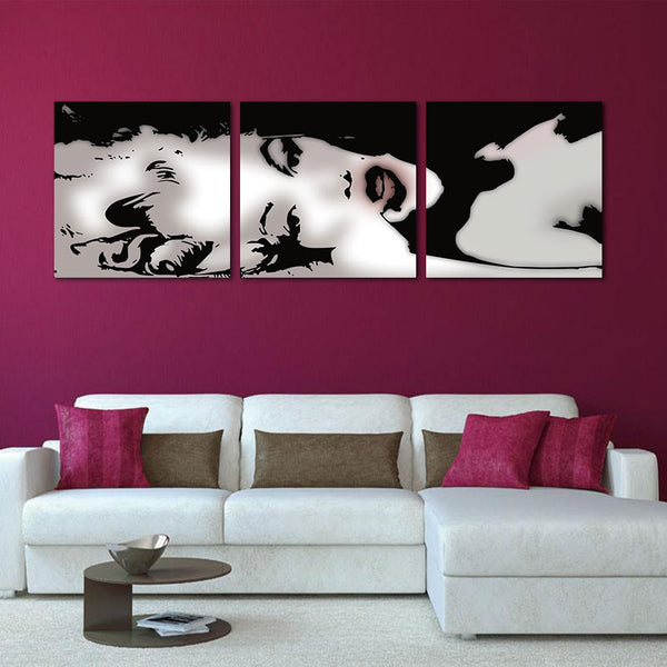 3 Panel Modern Oil Painting Home Decorative Art Picture Paint On Canvas Prints Painting Sexy Marilyn Monroe Wall Paintings