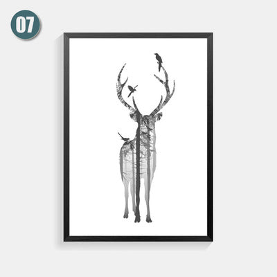 Posters And Prints Nordic Style Poster Art Print Wall Pictures For Living Room Love Letter Elk Wall Art Canvas Painting Unframed
