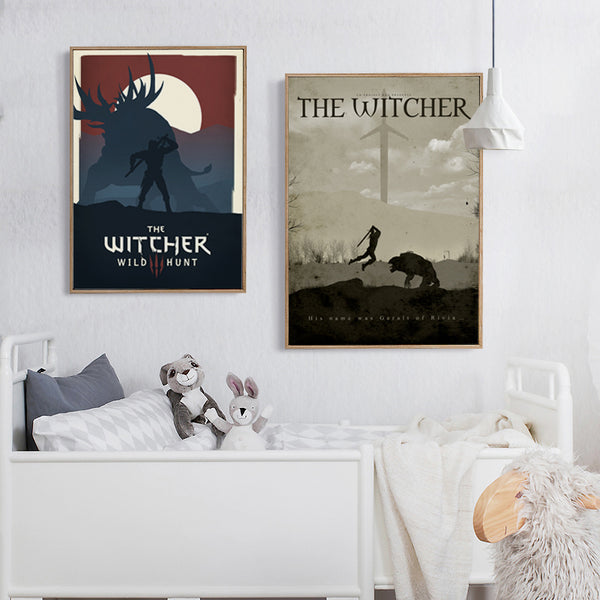 Elegant Poetry Modern Simple Game Witcher 3 Canvas Painting Art Print Image Poster Wall Decoration Murals Boy Home Decoration