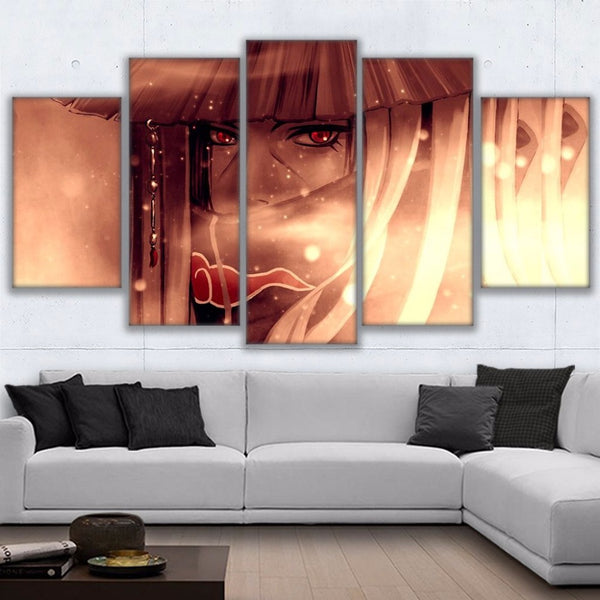 Wall Art Pictures Home Decor For Living Room HD Prints Anime Poster Framed 5 Pieces Naruto Uchiha Itachi Canvas Paintings PENGDA
