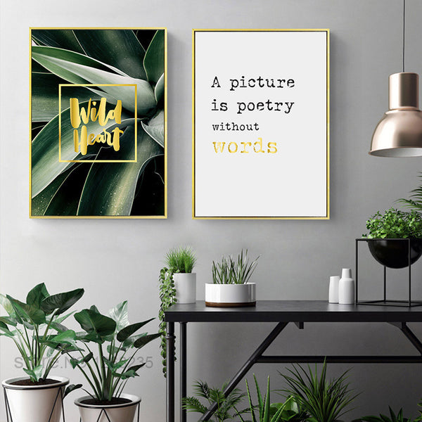 Posters And Prints Green Plan Nordic Style Poster Landscape Wall Pictures For Living Room Wall Art Canvas Painting Unframed