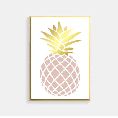 Posters And Prints Nordic Style Poster Pineapple Wall Pictures For Living Room Dog Letter Art Print Canvas Painting Unframed