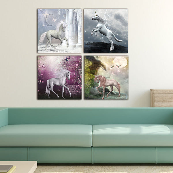 The aesthetic of the Unicorn paintings canvas modern art Geometric Unicorn Canvas Art  Wall Painting for Home Decoration