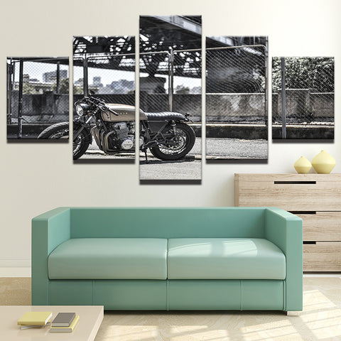 Modular Canvas HD Prints Posters Wall Art Pictures 5 Pieces Vintage Motorcycle Paintings Home Decor For Living Room Framework