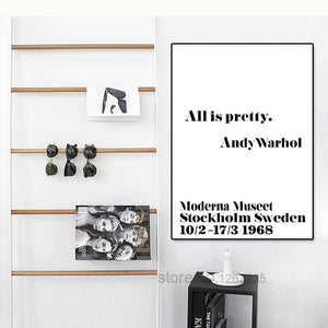 Pretty Nordic Decoration Posters And Prints Wall Art Canvas Painting Andy Warhol Wall Pictures For Living Room No Poster Frame