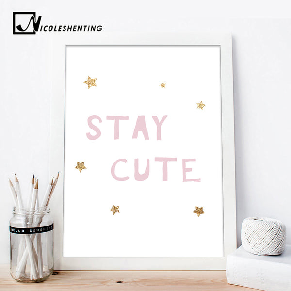 Custom Poster Wall Art Canvas Posters Nursery Quote Prints Painting Wall Pictures Kids Baby Bedroom Decoration Modern Home Decor