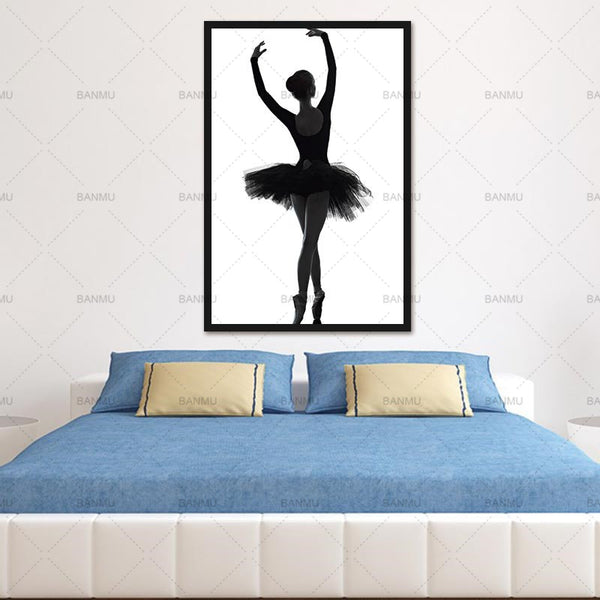 Wall Pictures Art Decoration Pictures Ballet graceful Dancer Modern Canvas Painting Wall Art For Living Room No Frame