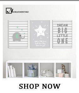 Star Moon Nursery Quote Wall Art Canvas Poster Nordic Style Print Kawaii Painting Pictures Living Room Baby Bedroom Decoration