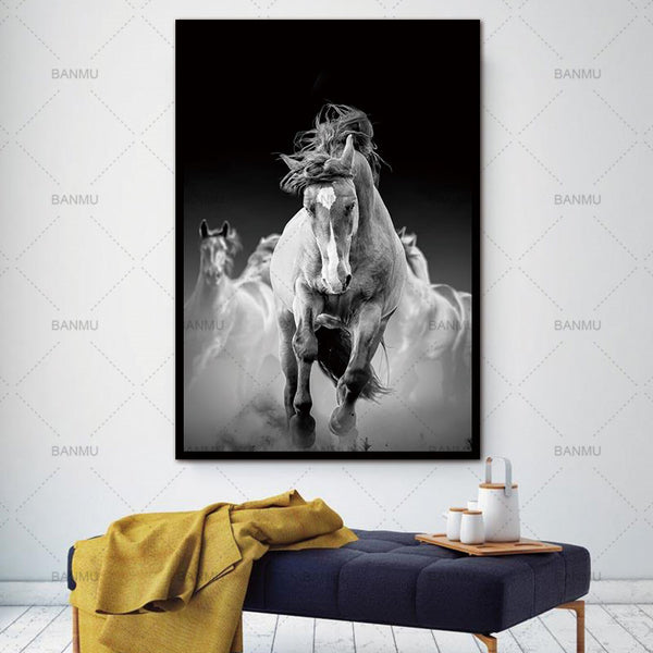 New arrivals animals canvas painitng print horse Wall Pictures for Living Room Art Decoration Pictures No Frame