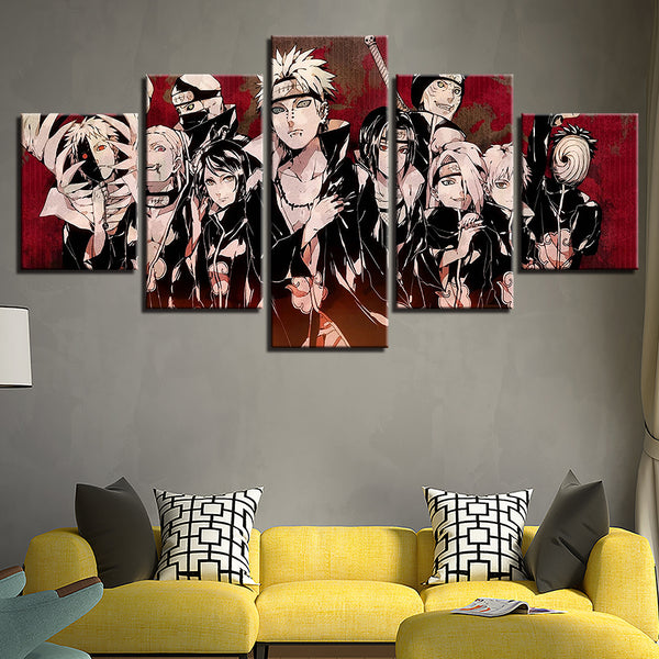 Home Decor HD Prints Canvas Pictures 5 Pieces Animation Naruto Characters Paintings For Living Room Wall Art Posters Framework