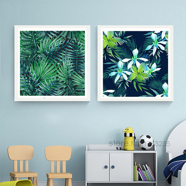Bird Flower Posters And Prints Rainforest Flamingo Nordic Poster Wall Picture Canvas Art Wall Pictures For Living Room Unframed