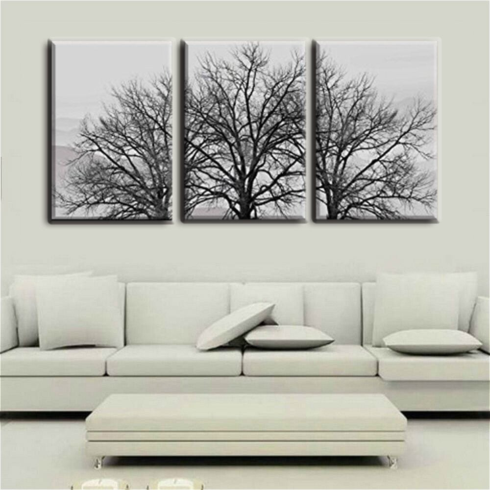 16x24inch 3 pieces frame painting canvas hd print dead trees in winter photo wall art for