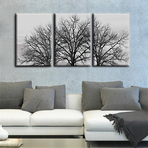 16x24inch 3 Pieces Frame Painting Canvas HD Print Dead Trees in Winter Photo Wall Art for Living Room Decor Gift Drop Shipping