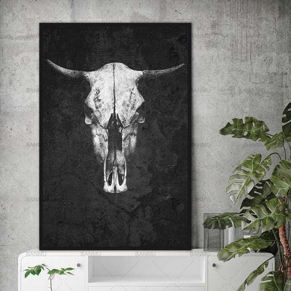 modern print Animal Canvas Painting decoration wall art picture for the living room wall art picture cattle print on the canvas