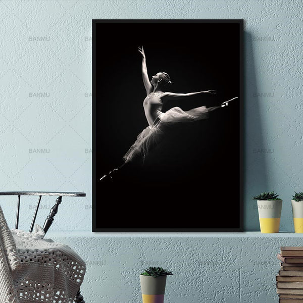 Canvas painting wall art decoration for the living room new arrivals the woman dance modern print painting picture