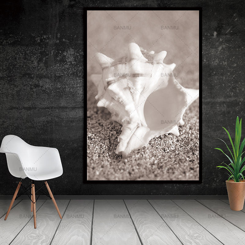 Conch Beach Nordic Abstract Natural Wall Pictures Living Room Art Decoration Pictures Scandinavian Canvas Painting No Frame