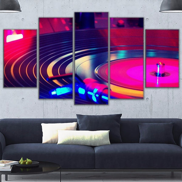 Wall Art Frame Canvas HD Prints Painting 5 Pieces DJ Music Instrument Turntables Poster Home Decor Dj Turn Table Pictures PENGDA