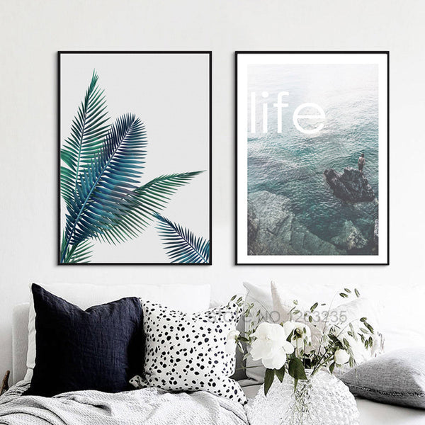 Cuadros Decoracion Forest Sea Nordic Poster Posters And Prints Wall Art Canvas Painting Wall Pictures For Living Room Unframed