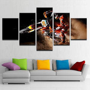 Canvas Poster Wall Art Home Decor Framework 5 Pieces Motorcycle Paintings For Living Room HD Prints X-Game Sports Motor Pictures