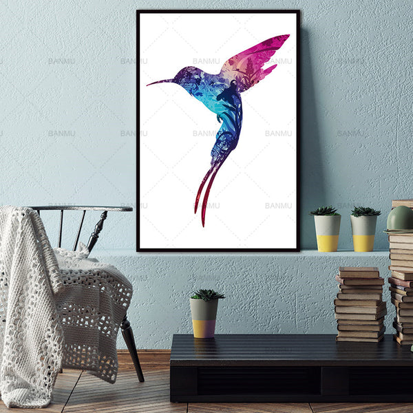 Canvas Painting Bird Natural Nordic poster Abstract Wall Pictures Living Room Art Decoration Pictures No Frame