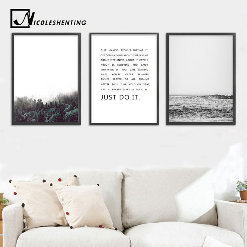 Quotes wall canvas