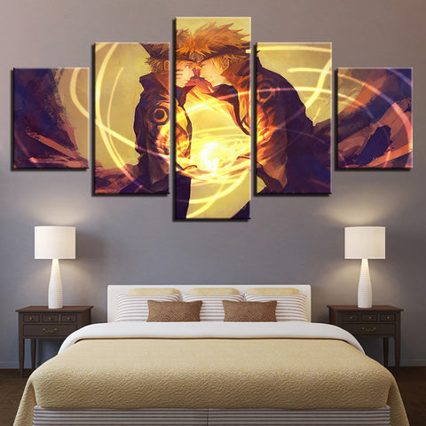 Canvas Paintings Home Decor Living Room Wall Art 5 Pieces Naruto Pictures HD Prints Cartoon Anime Characters Posters Framework