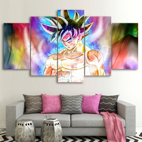 Canvas Poster HD Prints Room Wall Art Framework 5 Pieces Dragon Ball Goku Paintings Home Decor Anime Cartoon Abstract Pictures
