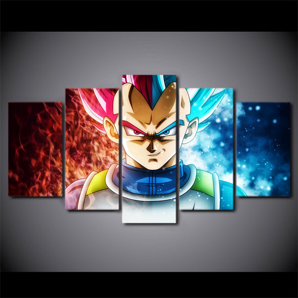 Canvas Paintings For Living Room Home Decor HD Prints 5 Pieces Dragon Ball Anime Pictures Super Saiyan Poster Wall Art Framework