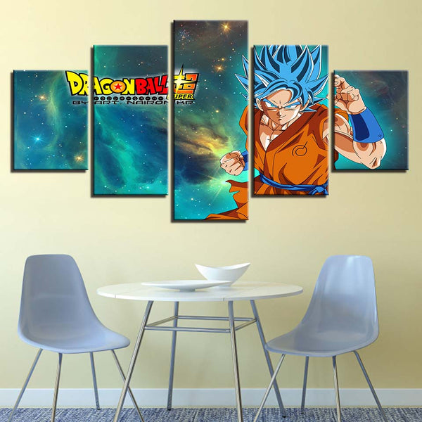 Canvas Painting Wall Art Framework Living Room Home Decor 5 Pieces Dragon Ball Z Super Saiyan Pictures HD Prints Abstract Poster