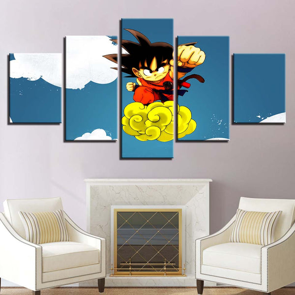 Canvas Paintings Wall Art Prints Framework 5 Pieces Cartoon Dragon Ball Z Pictures GOKU Cute Posters For Living Room Home Decor