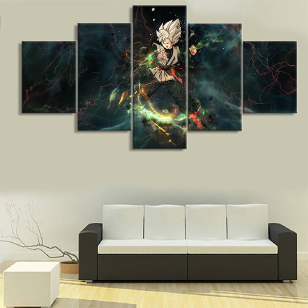 Canvas HD Prints Poster Wall Art Framework For Living Room 5 Pieces Dragon Ball Anime Paintings Cartoon Pictures Home Decoration