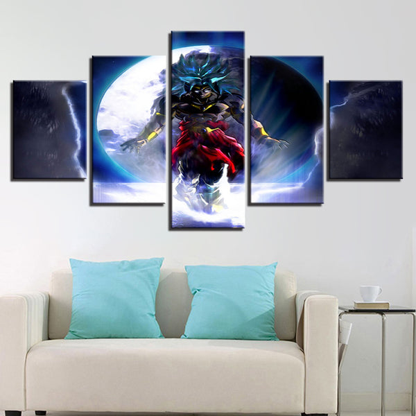 Canvas Paintings Home Decor Framework HD Prints Poster 5 Pieces Animated Cartoon Dragon Ball Pictures For Living Room Wall Art