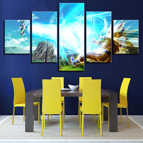 Canvas Paintings Wall Art Framework Home Decor 5 Pieces Vegeta Dragon Ball Z Super Saiyan Pictures Living Room HD Prints Poster