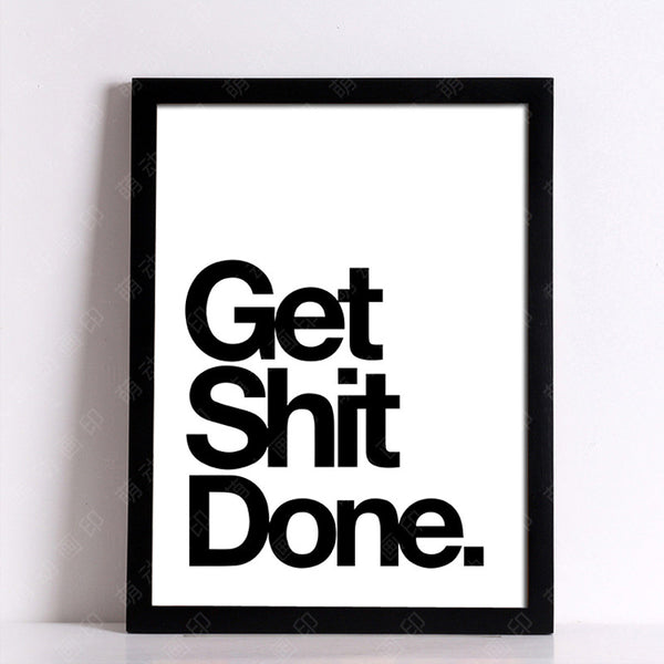 Get Shit Done Nordic Poster Cuadros Wall Pictures For Living Room Wall Art Canvas Painting Posters And Prints Picture Unframed