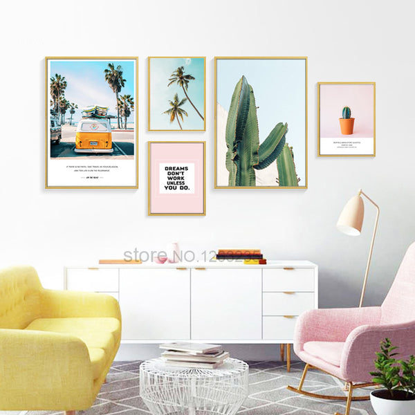 Pineapple Cactus Coconut Tree Nordic Poster Posters And Prints Wall Picture Canvas Art Canvas Pictures For Living Room Unframed
