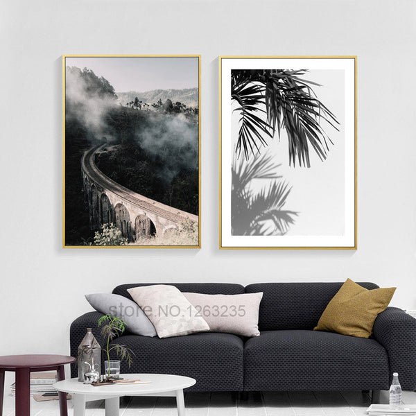 Landscape Painting Forest Leaf Posters And Prints Nordic Poster Wall Picture Canvas Art Wall Pictures For Living Room Unframed