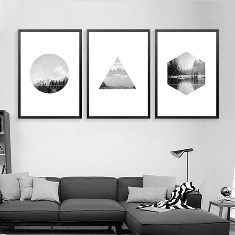 Art Print Paintings Canvas Prints Scenery Posters And Prints Grey Landscape Wall Art Canvas Painting Nordic Poster Unframed