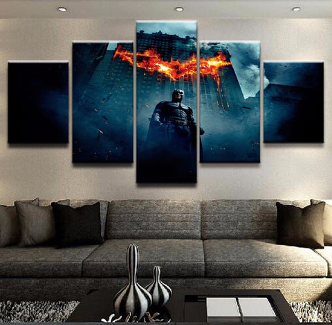 Canvas Prints The Dark Knight Movie Posters For Living Room Wall Art Pictures 5 Pieces Batman Paintings Home Decor Framework