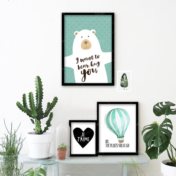Posters And Prints Cuadros Nursery Cartoon Kisd Wall Art Canvas Painting Wall Pictures For Living Room Nordic Poster Unframed
