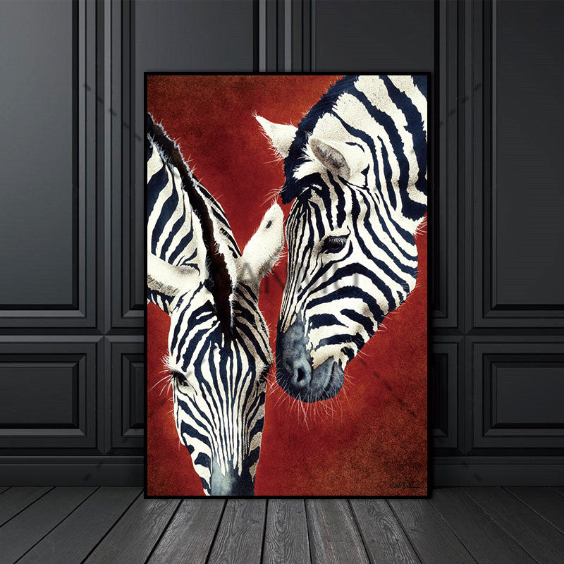 Canvas Painting Print Zebra Animal Nordic  Abstract Wall Pictures for Living Room Art Decoration Pictures Scandinavian No Frame