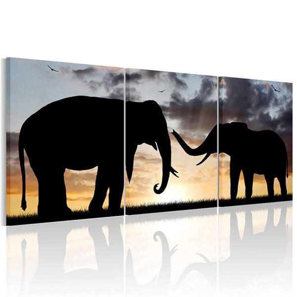 5PC No Framed Bedroom Livingroom Wall Art Painting on Canvas Elephants Painting Modern Wall Art Decor Artwork for  Home Decor