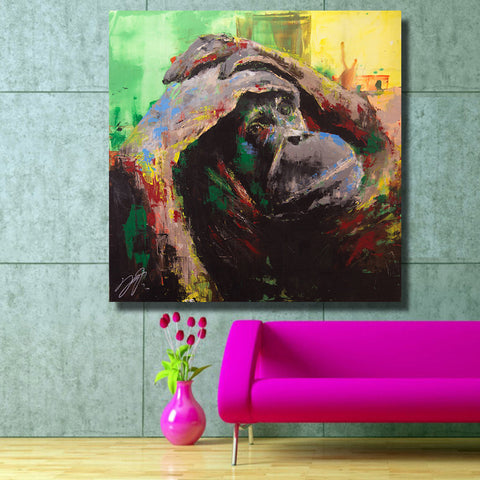 HDARTISAN high quality Picture Monkey Animal Abstract Oil Painting on Canvas Art Prints for Living Room Home Decoration