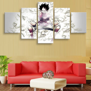 Canvas Paintings Wall Art Home Decor For Living Room Framework 5 Pieces One Piece Luffy Pictures HD Prints Anime Cartoon Posters