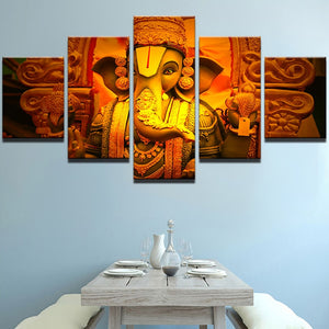 Wall Art Canvas Painting Poster 5 Panel Elephant God Modern Wall Frame Pictures For Living Room Home Decor Modular Pictures
