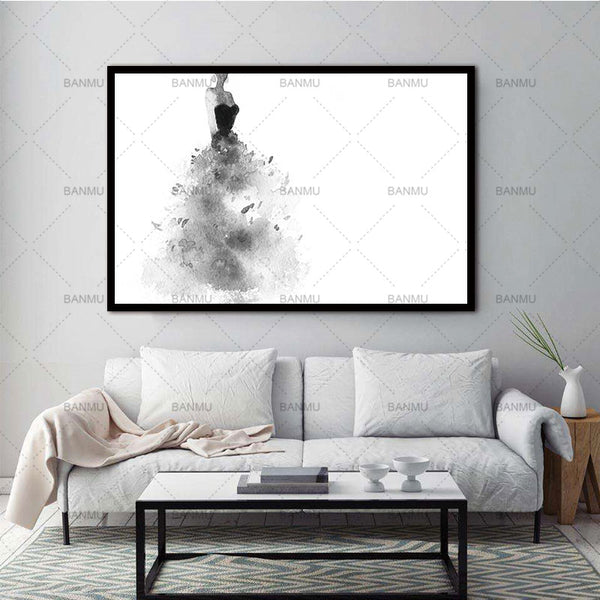 Canvas Painting Canvas Prints picture Wall Art Print Nordic Decoration Posters And Prints Girl on Wall Pictures No Poster Frame