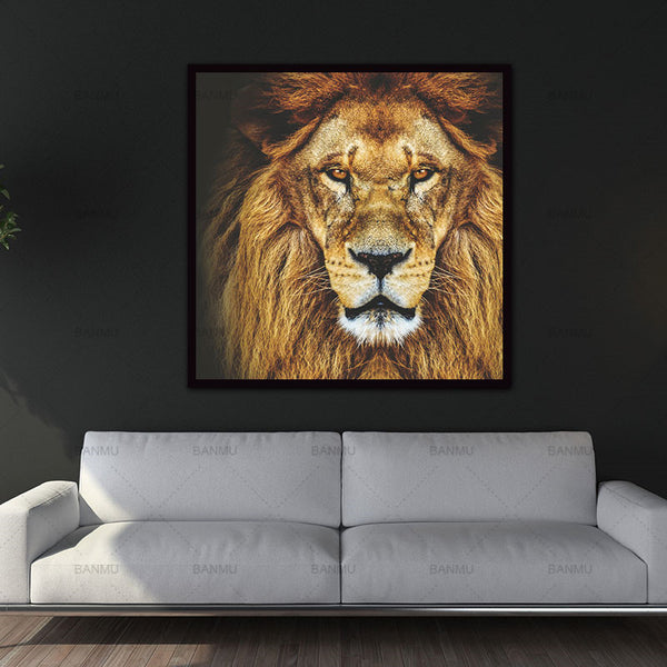 Animal Wall Art picture Lion Canvas Painting Prints Home Decoration Decor Modular Pictures For Living Room