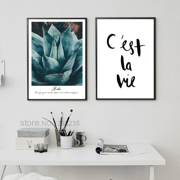 Cactus Pineapple Plant Wall Art Canvas Painting Posters And Prints Nordic Poster Picture Wall Pictures For Living Room Unframed