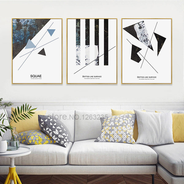 Abstract Geometry Forest Nordic Poster Picture Wall Art Canvas Painting Posters Prints Wall Pictures For Living Room Unframed