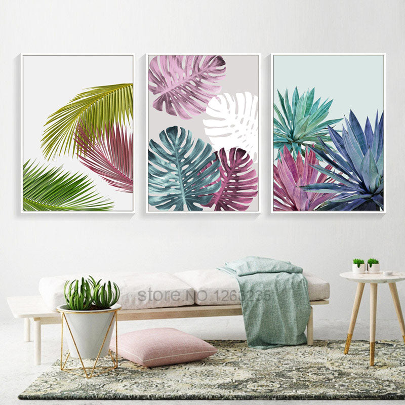 Plants or Flowers Wall Canvas Decor