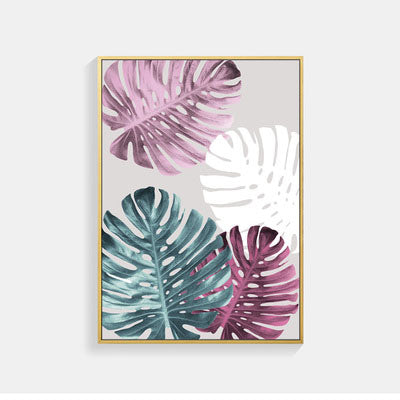 Abstract Plant Color Leaf Wall Art Canvas Painting Cuadros Posters Nordic Poster Picture Wall Pictures For Living Room Unframed